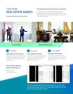 FB CASE STUDY FOR REAL ESTATE AGENTS