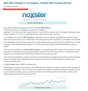 SEO Company Los Angeles Review - Splash Magazine